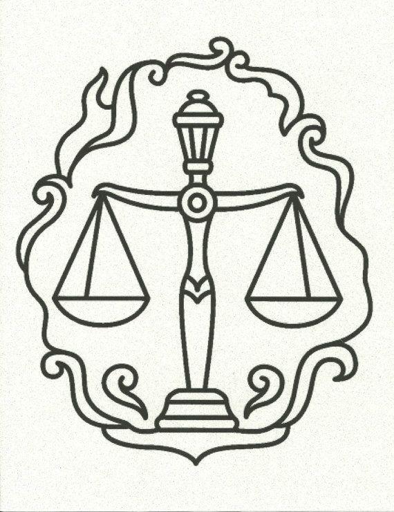 Libra Scales of Justice Zodiac Horoscope Symbol on a