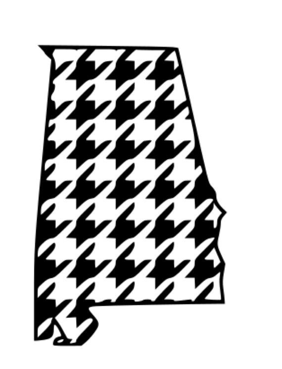 Houndstooth Alabama .svg, .dxf File Personal and Small