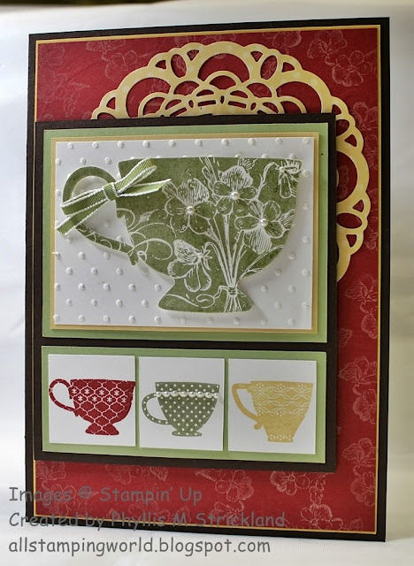 17 Best Images About Stampin Up Tea Shoppe On Pinterest