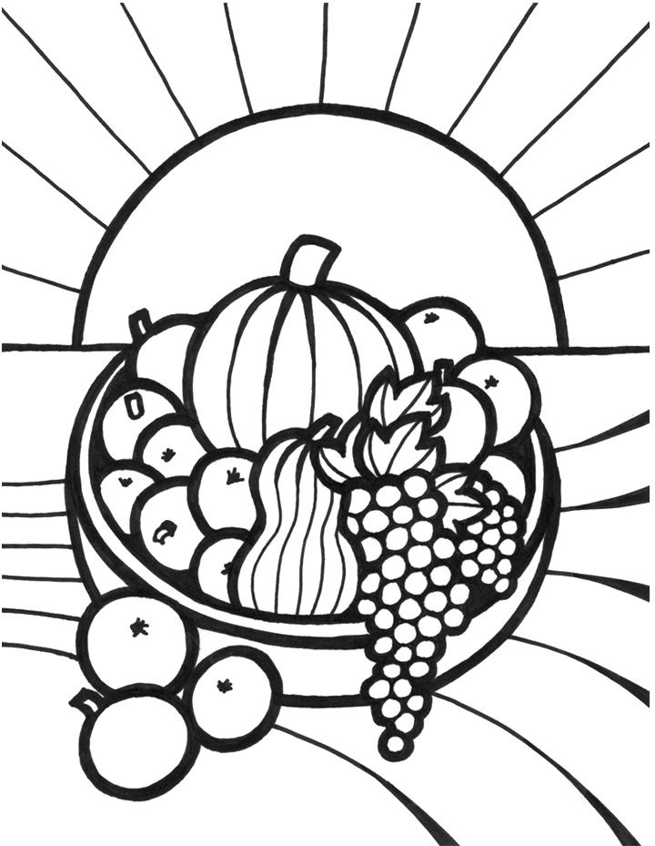 Coloring Pictures Of Apples And Bananas
