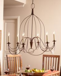 French Country Chandelier, Natural Rust   lighting ...