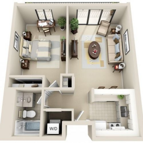 25 Best Ideas About One Bedroom Apartments On Pinterest One