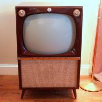 VINTAGE TELEVISION Set 50s Atomic Console TV Mid Century ...