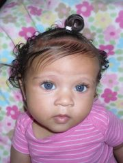 blue eyes biracial & mixed hair