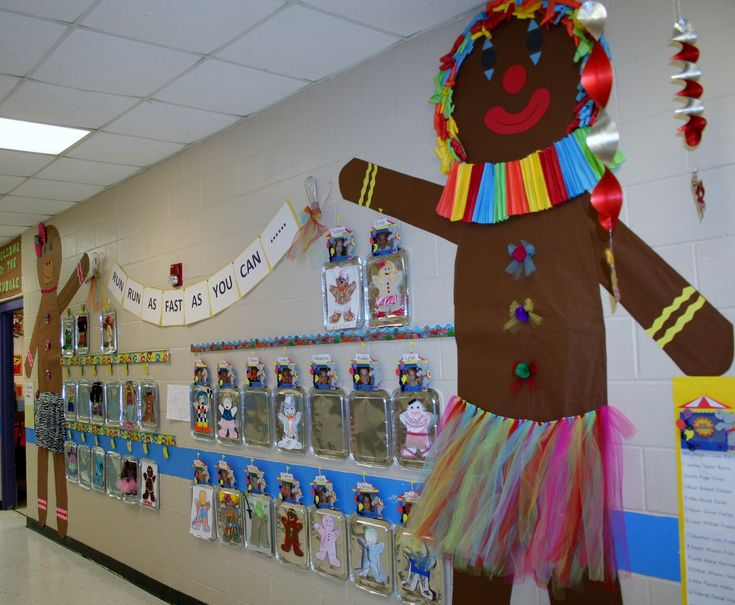 Classroom Gingerbread Man Hallway Decoration Classroom