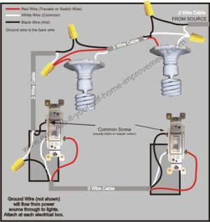 3 Way Switch Wiring Diagram | References | Pinterest