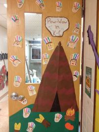 November classroom door. Native American Pow-Wow ...