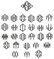 Cheapest Diamond Monogram Font (1.95 USD) by