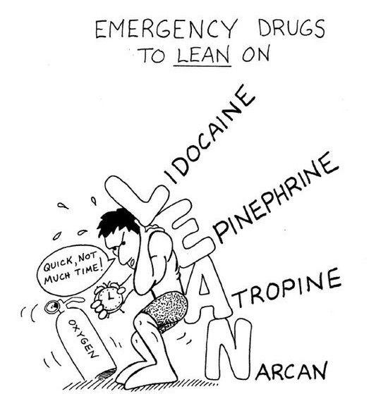 Emergency Drugs to LEAN on: • Lidocaine • Epinephrine