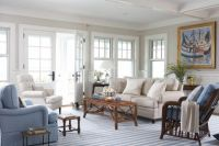 Love the bright and clean look of this living room. Beach ...