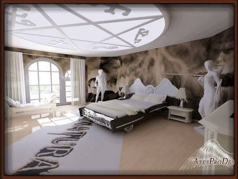 SPN themed bedroom  Supernatural  Pinterest  Bedrooms
