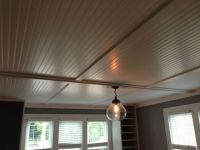 Cover up ugly popcorn ceilings with inexpensive beadboard ...