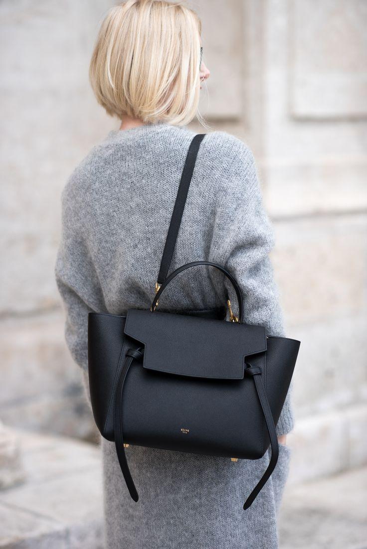 Celine Leather Black Purse