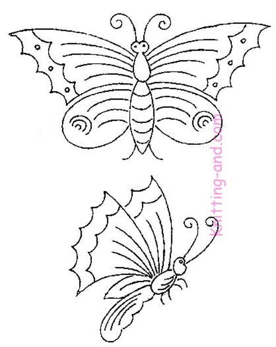 Free Embroidery Pattern: Butterflies and Dragonfly