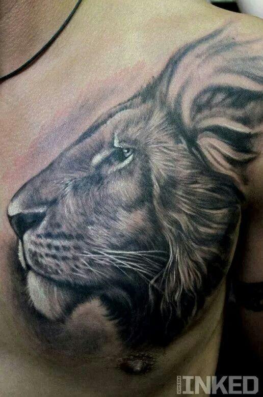 Tatuaje Pecho León Blog De Tatuajes Hombre