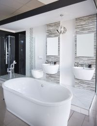 Beautiful #modern bathroom... #freestanding #bath # ...