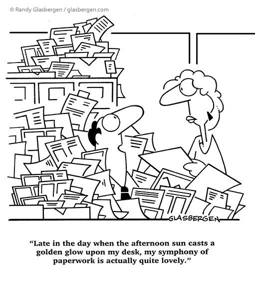 A good way to justify a messy desk! | Office Humour | Pinterest | Desks
