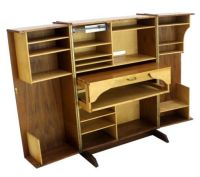 Danish Mid Century Modern Box Fold Away Secretary Desk ...