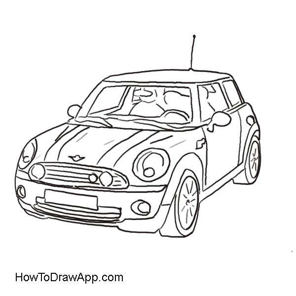 Mini Cooper Side Coloring Pages