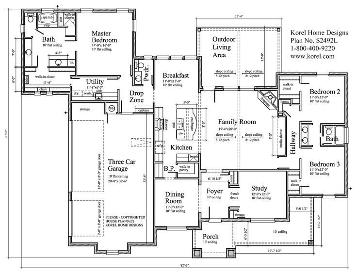 House Plans by Korel Home Designs Plan Number: S2492L