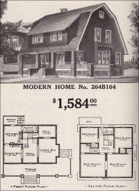 Dutch Colonial Revival - Sears Modern Home No. 264B164 ...