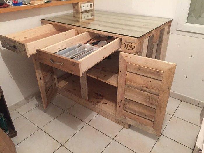 Pallets Pallet Kitchen Cabinets Cabinet Basement