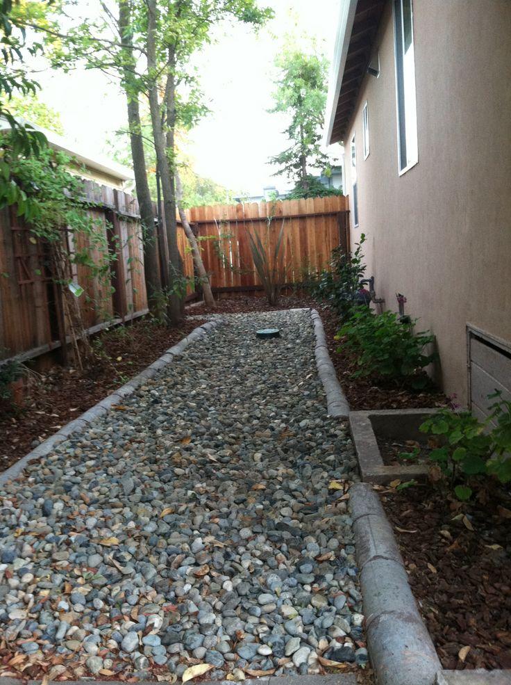 Low maintenance side yard