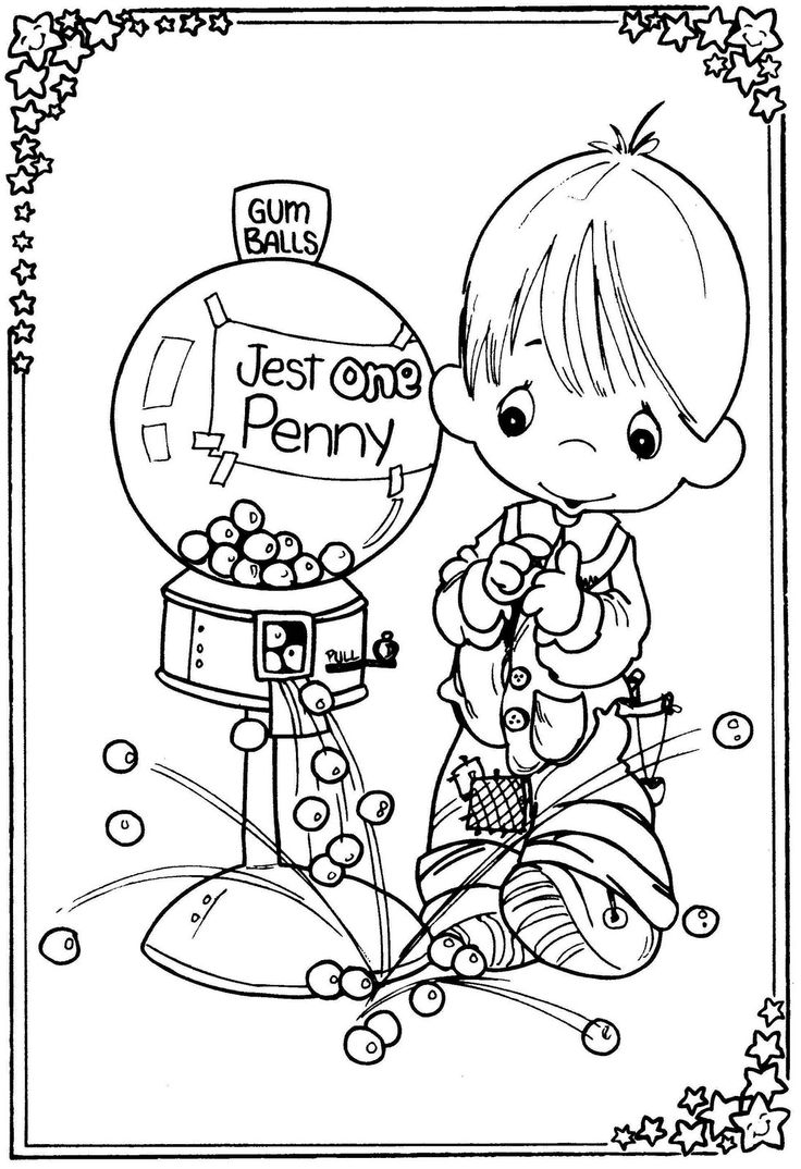 25+ best images about Coloring Pages: Precious Moments on