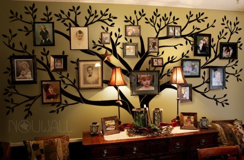 Tree Wall Decals Wall Stickers – Big Family Tree decal – Photo frame tree. $150.