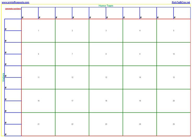 free football square template
