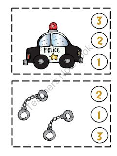 Preschool printables, Police and Toddlers on Pinterest