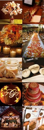 Some really great ideas. If you are having a fall wedding indoors but still goin