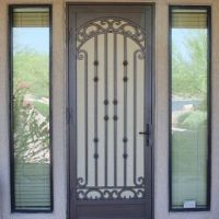 First impressions wrought iron screen doors with glass ...