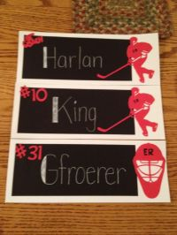 1000+ images about Door signs for hockey tournaments on