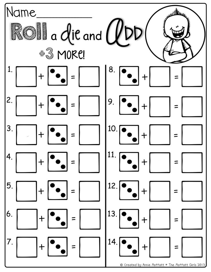 Roll and add 3 more! Tons of interactive math sheets to