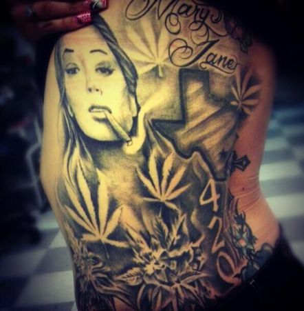 weed tattoo