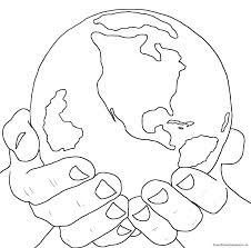 He's got the whole world in His hands: Coloringpages, Kids