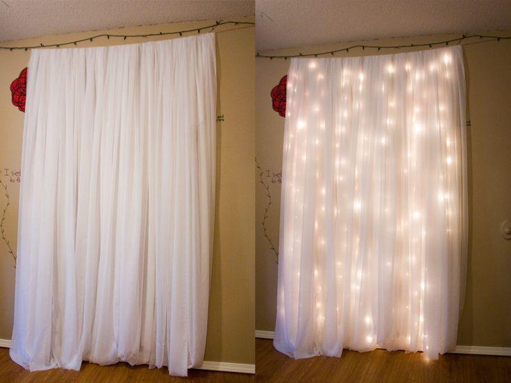 25 Best Ideas About Fairy Light Curtain On Pinterest Party