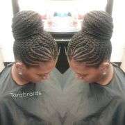 ideas cornrows updo