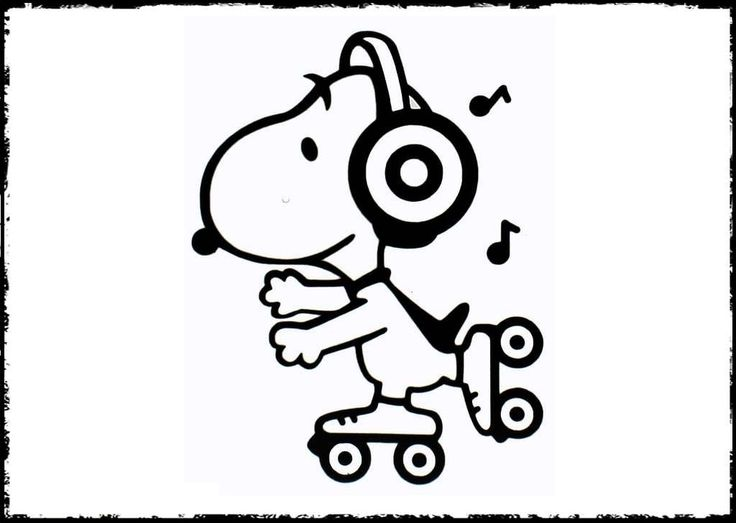 222 Best Images About Snoopy Coloring Pages