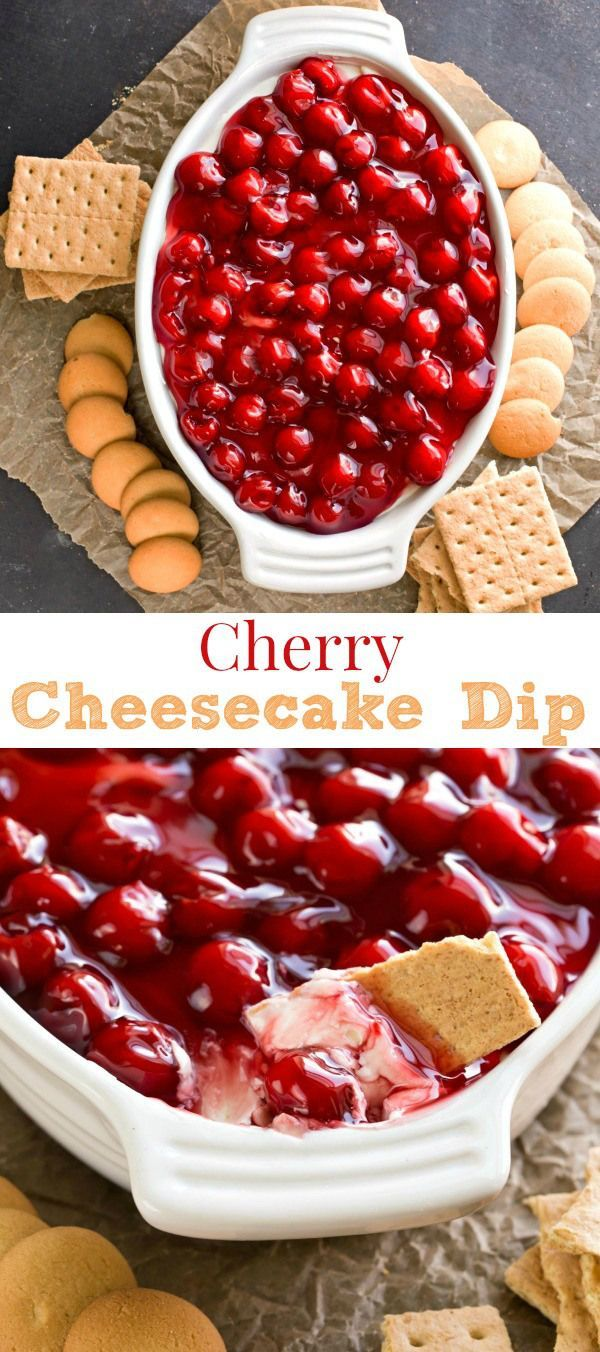 Cherry Cheesecake Dip Recipe This looks great, but find a way to make without cool whip and with whole