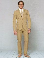 safari jacket. belted . dorky