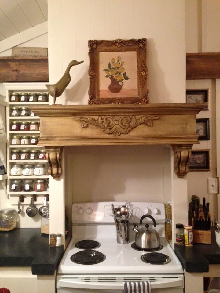 Mantle over kitchen stove  My Home Remodel Pics