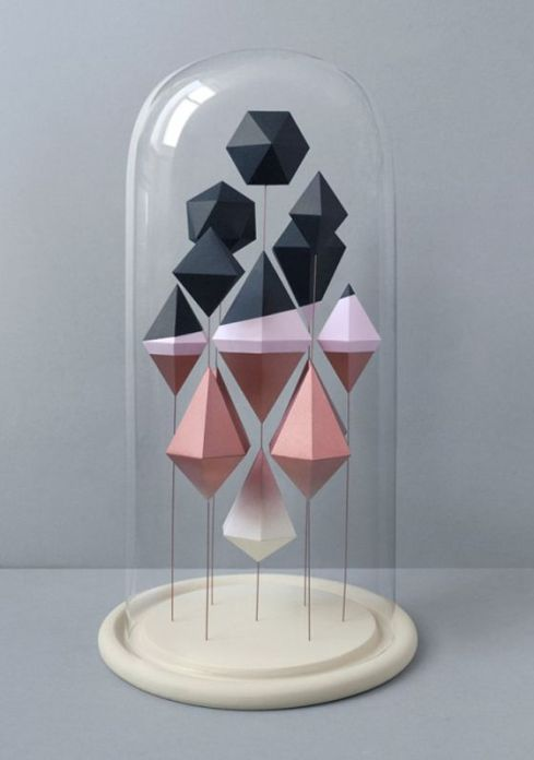 sculpted geometric shapes created by Mark of Present: