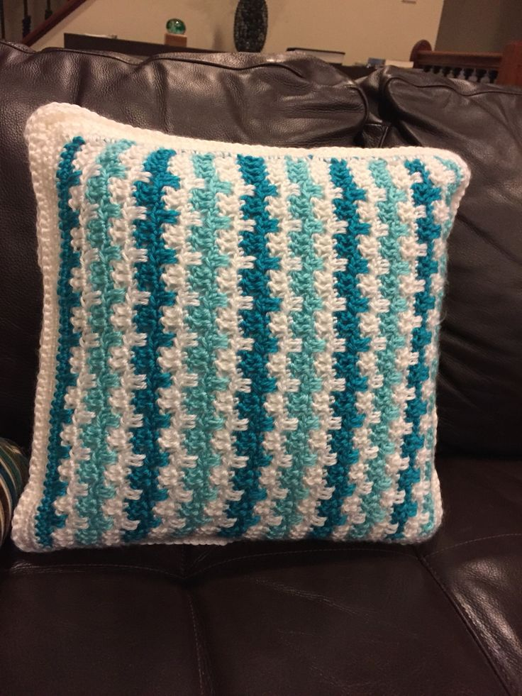 teal chair covers bernhardt leather 1000+ images about crochet cushion on pinterest | moss stitch, stitches and pillow