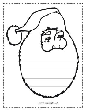 The Santa Claus in this free, printable writing template