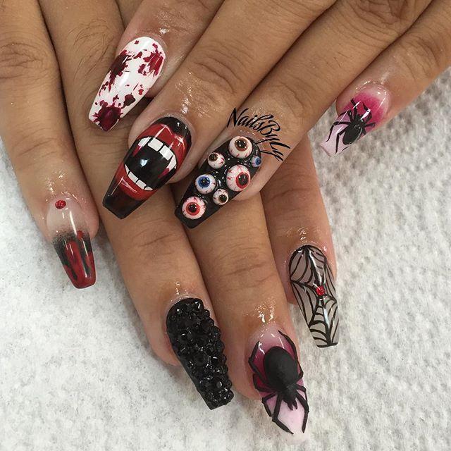 25+ best ideas about Halloween nails on Pinterest