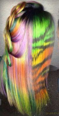 1000+ ideas about Rainbow Dyed Hair on Pinterest   Crazy ...