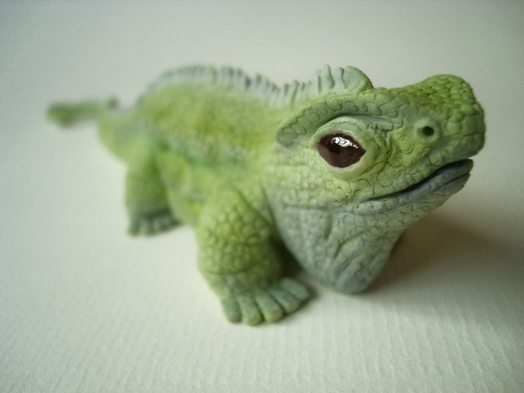 Polymer Clay Custom Lizard Cake Topper Summers Crafted