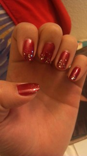 holiday nails glitter winter